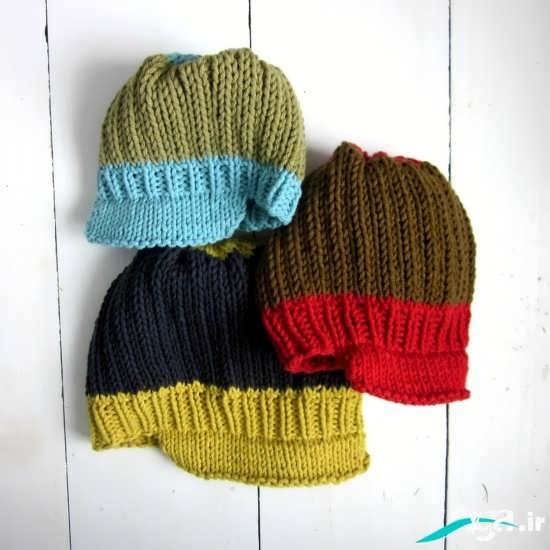 مدل کلاه بافتنی نقاب دار