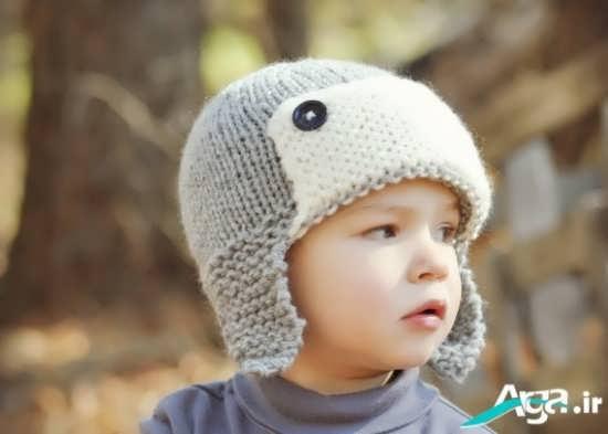 کلاه بافتنی پسرانه با رنگ خاکستری