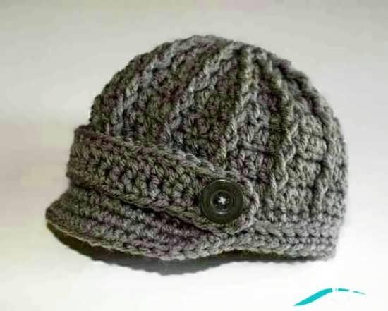 کلاه بافتنی پسرانه دکمه دار