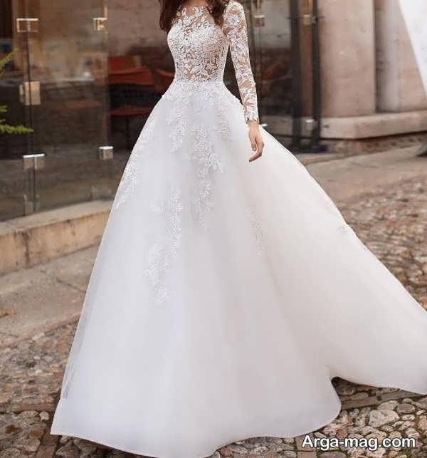 پیراهن عروس زیبای دانتل