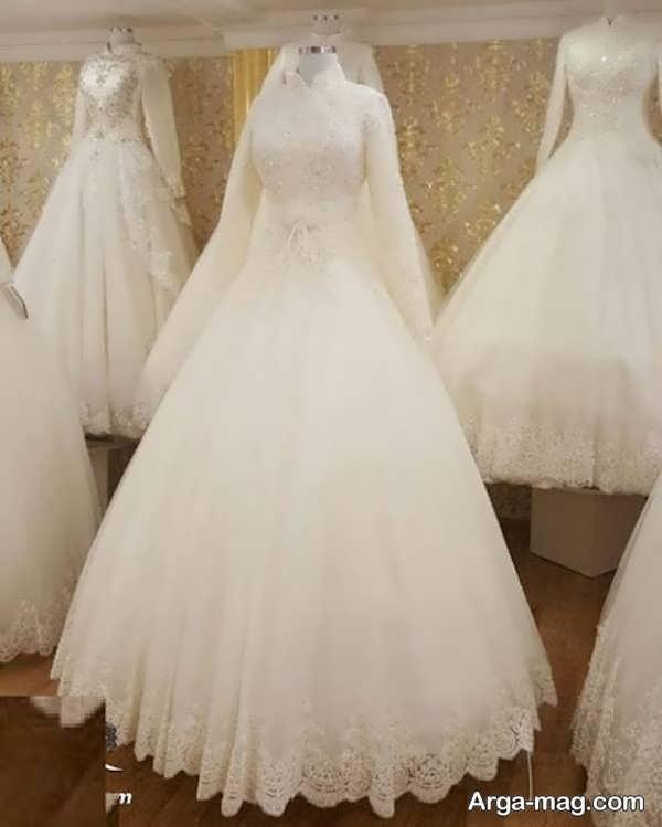 مدل پیراهن عروس دانتل