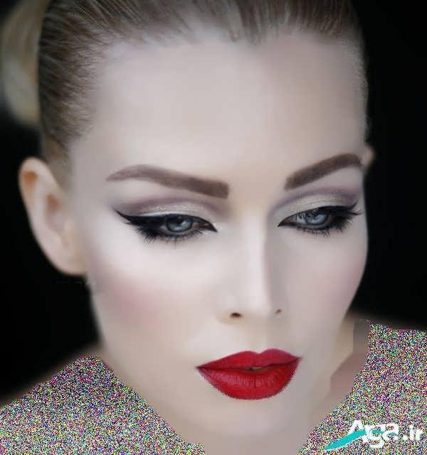 مدل آرایش لایت با سایه تیره و روشن