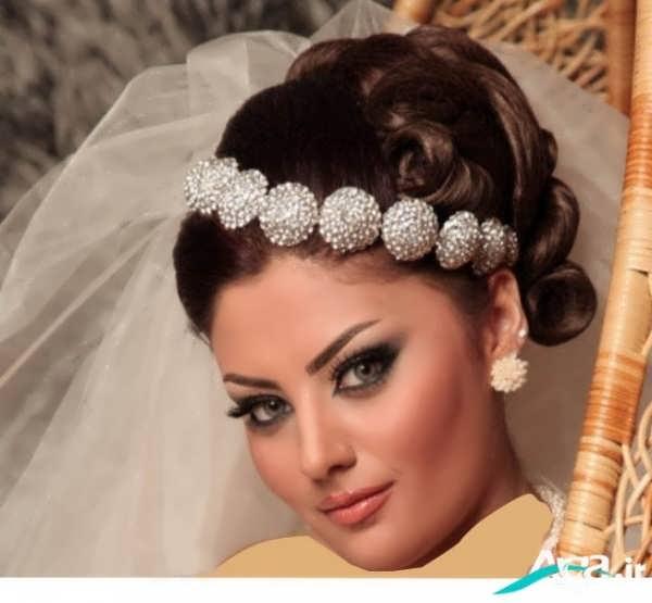 مدل آرایش ساده عروس