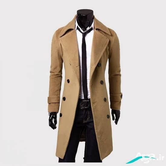 مدل پالتو مردانه با طرح بلند و رنگ روشن