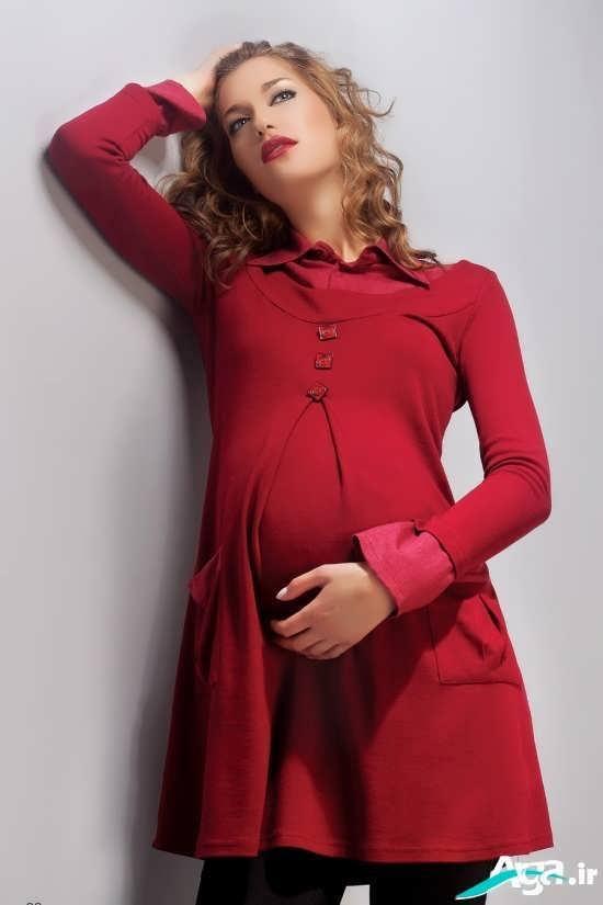 ونیک قرمز زنانه برای خانم های باردار