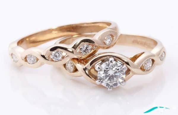 مدل حلقه ازدواج ست طلایی
