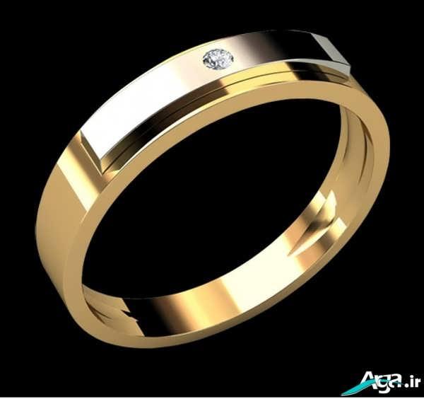 مدل حلقه نامزدی طلایی