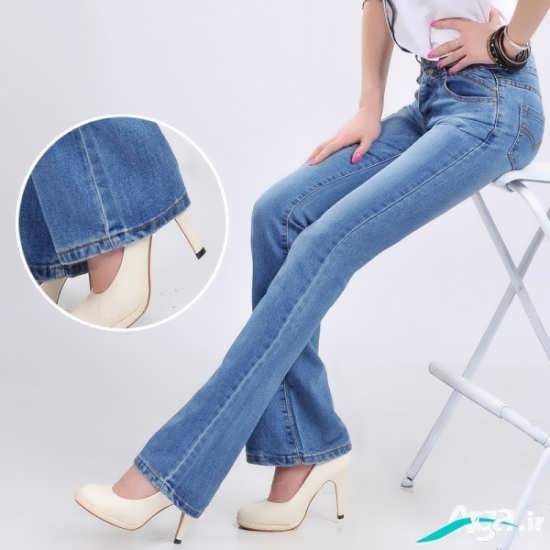 شلوار جین آبی دخترانه