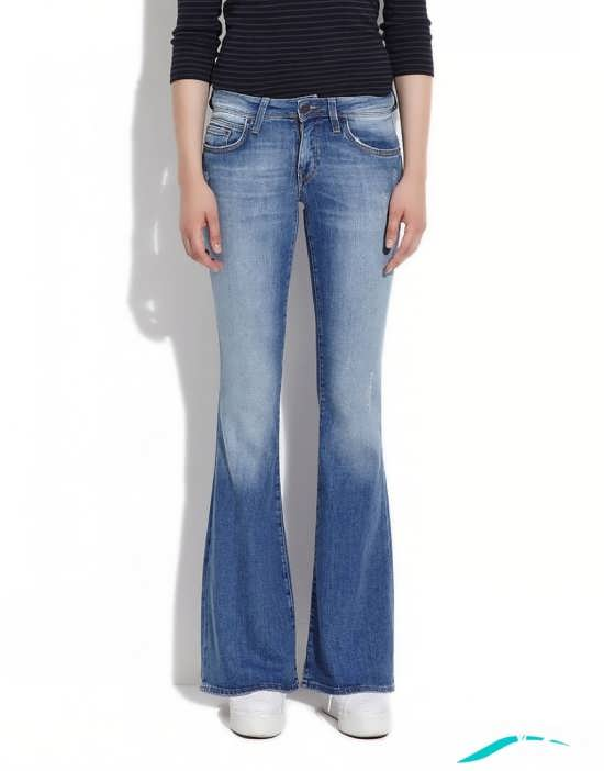 مدل شلوار دخترانه جین دم پا