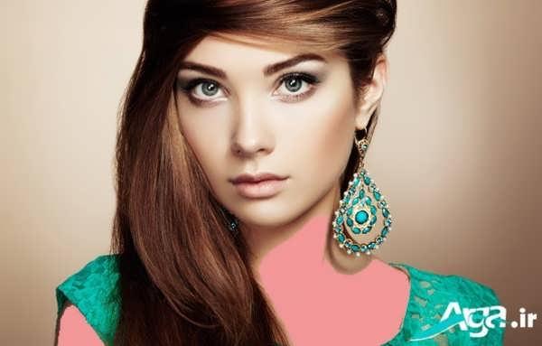 مدل آرایش دخترانه برای چشم های سبز