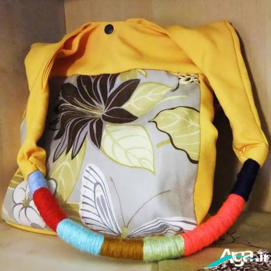 مدل کیف پارچه ای لا انوع رنگ های پارچه