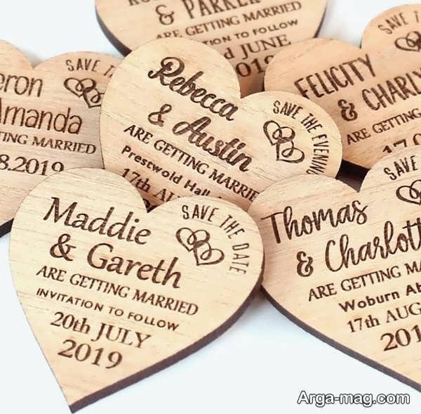 کارت عروسی مدل قلبی