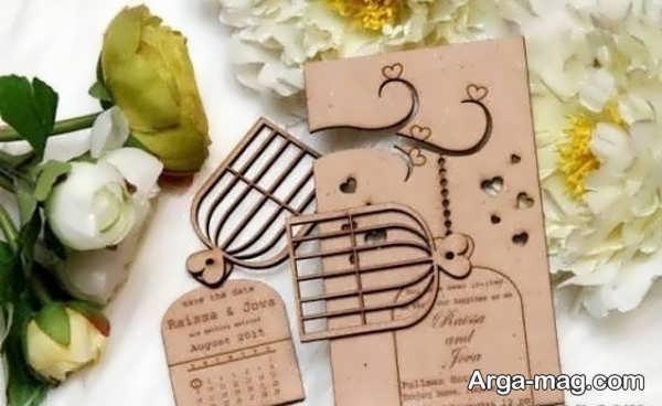 کارت عروسی با طرحی زیبا