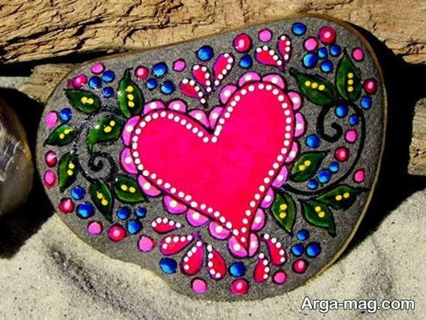 ایده نقاشی روی سنگ
