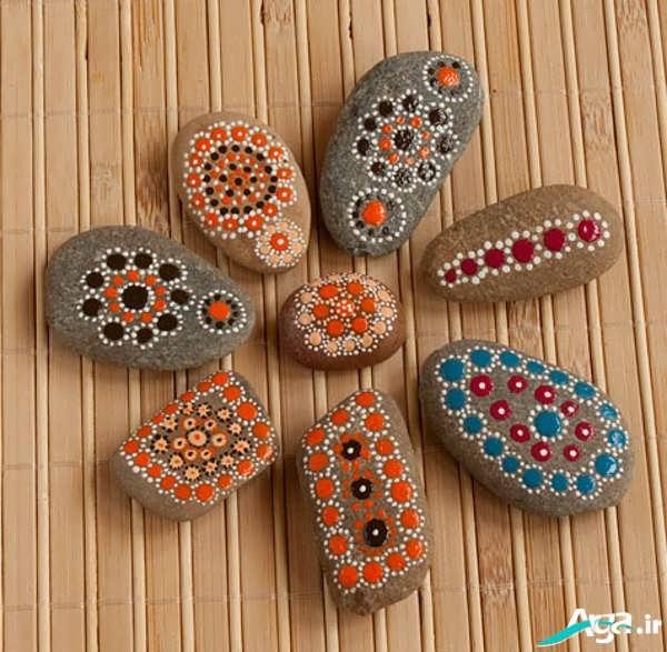نقاشی جالب روی سنگ