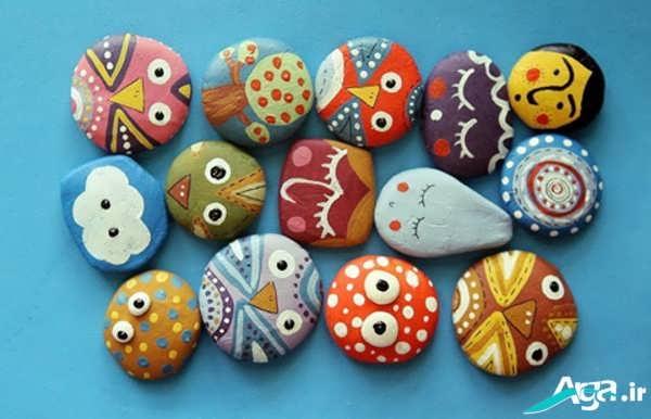 آموزش نقاشی کشیدن روی سنگ