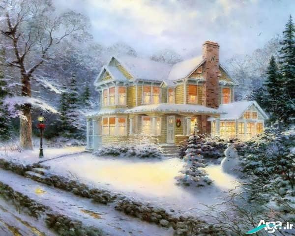 منظره زیبای برفی