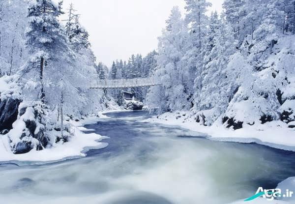 عکس منظره برفی