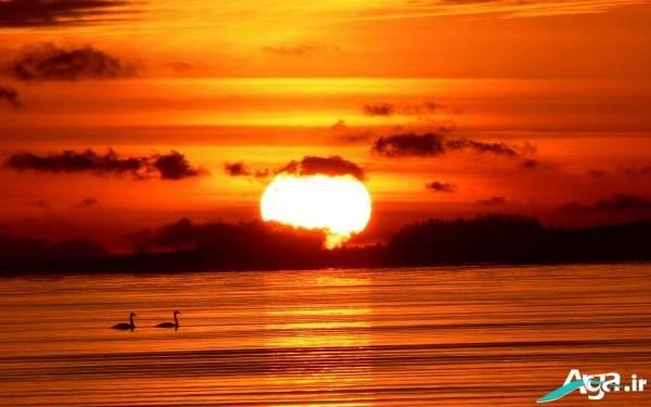 عکس زیبای غروب آفتاب