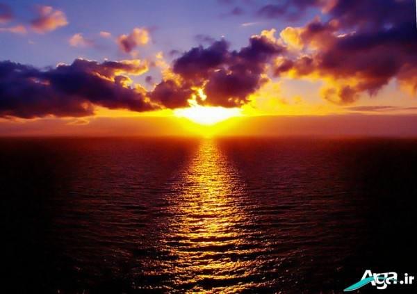 منظره غروب آفتاب