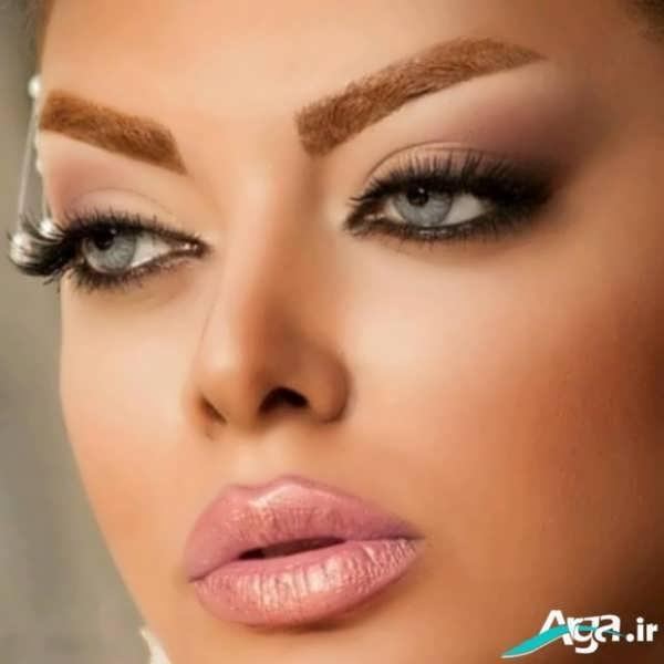مدل آرایش صورت ساده و زیبا