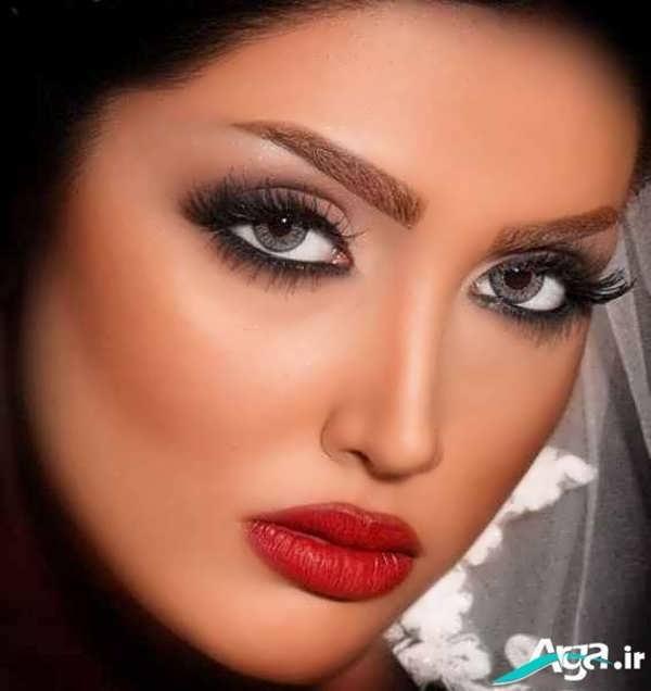 مدل های متنوع آرایش چشم عروس به صورت لایت و ساده