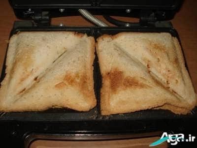 طرز تهیه اسنک قارچ و گوشت در ساندویچ ساز