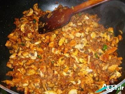 طرز تهیه استک قارچ و گوشت