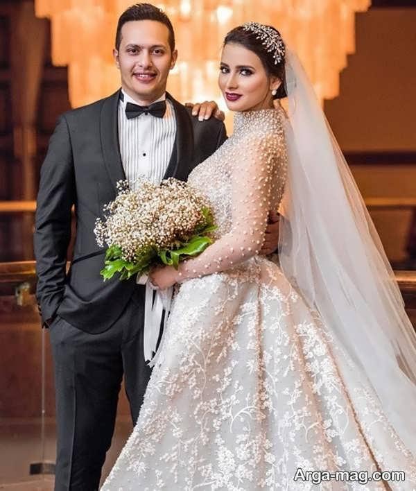 عکس جالب برای ژست عروس و داماد