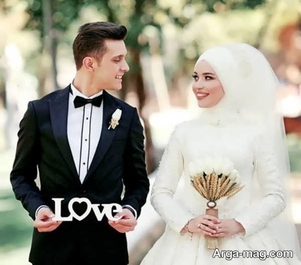 عکس رمانتیک برای ژست عروس و داماد