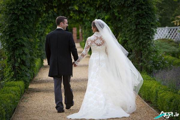 ژست شیک عروس و داماد