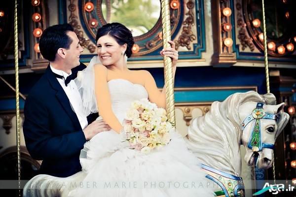 ژست عروس و داماد شیک برای عکاسی