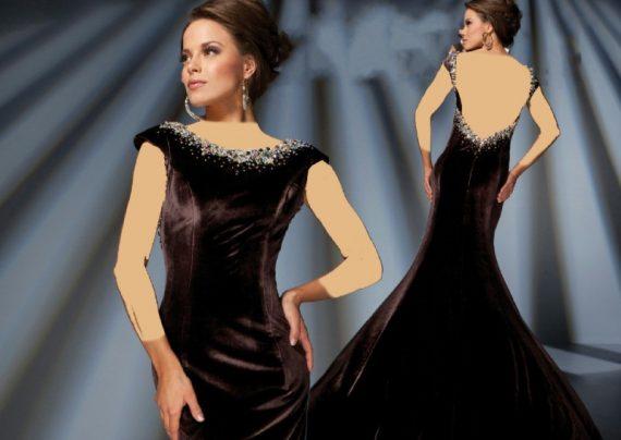 مدل لباس مجلسی مخمل 2016