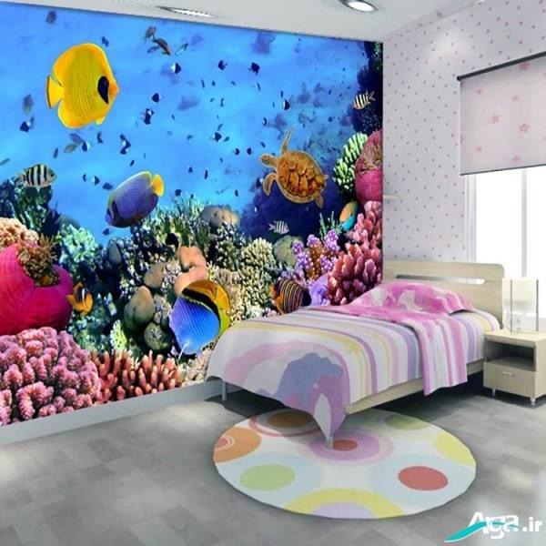 کاغذ دیواری سه بعدی جدید