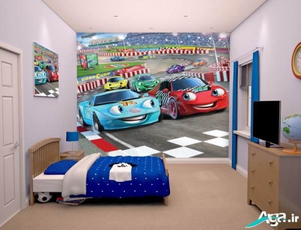 کاغذ دیواری سه بعدی اتاق خواب کودکانه