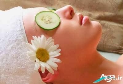 ماسک خیار برای درمان چین و چروک چشم