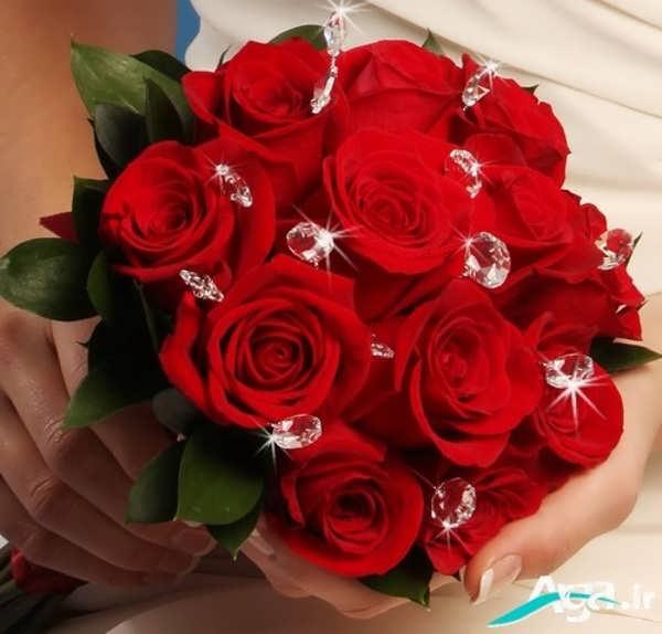 دسته گل عروس رز