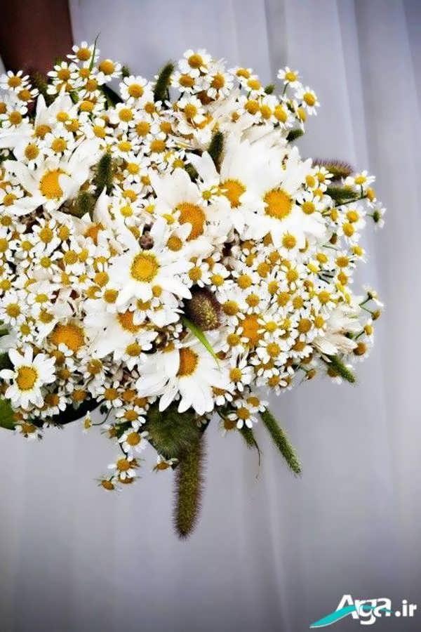 دسته گلی زیبا با بابونه