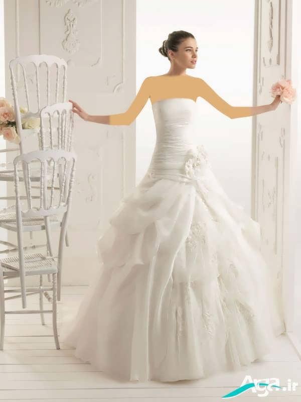 لباس عروس دکلته جذاب