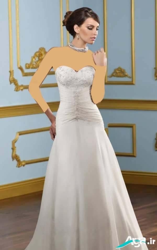 عکس لباس عروس دکلته