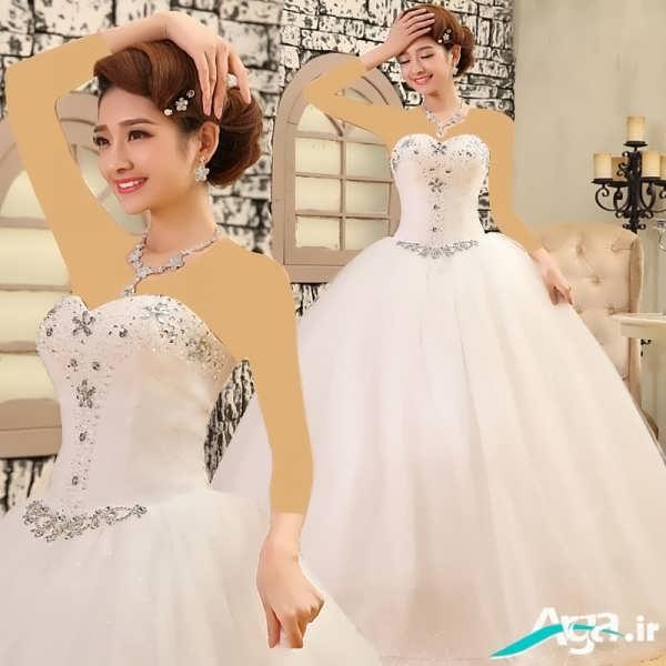 لباس عروس دکلته پرنسسی