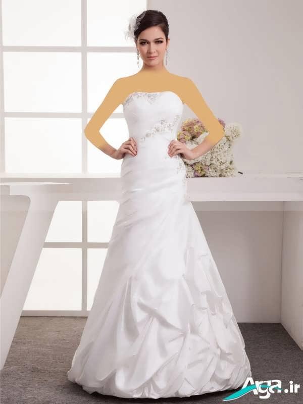 لباس عروس دکلته ساده