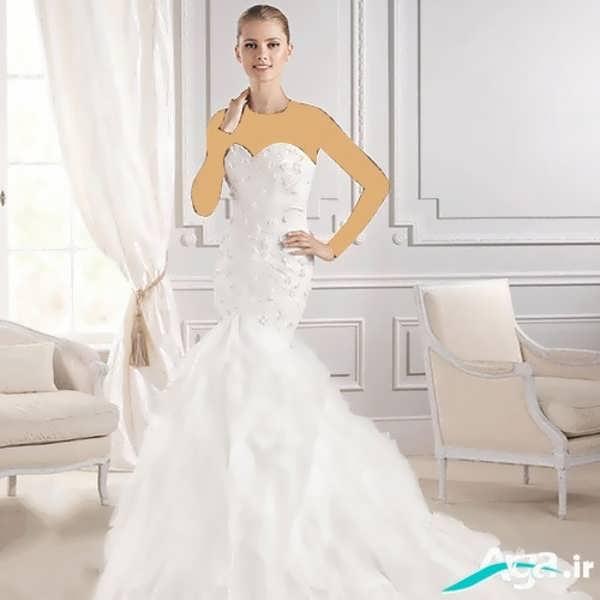 لباس عروس دکلته ماهی