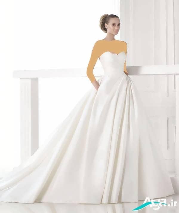 لباس عروس دکلته2016