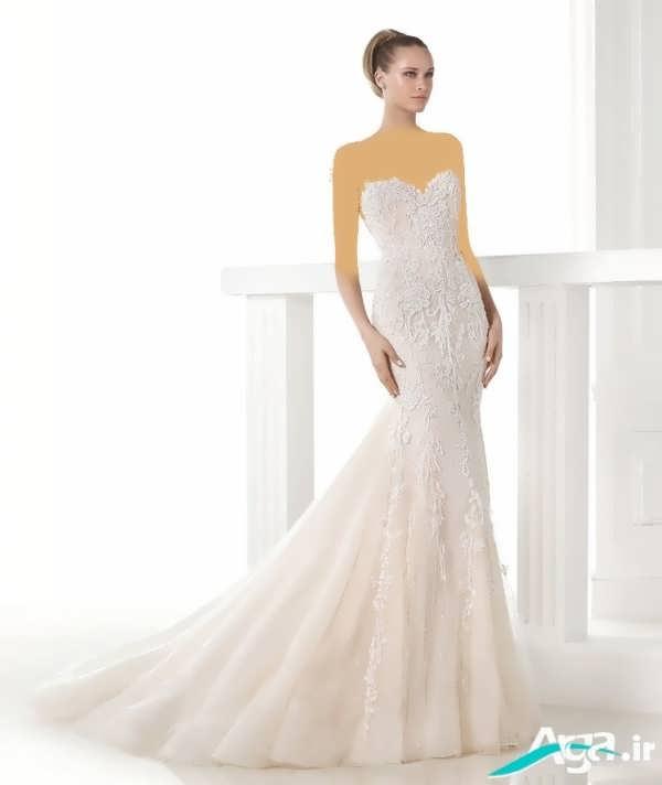 لباس عروس دکلته زیبا