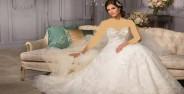 لباس عروس دکلته فوق العاده جذاب
