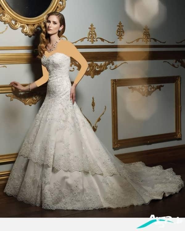 لباس عروس دکلته دانتل