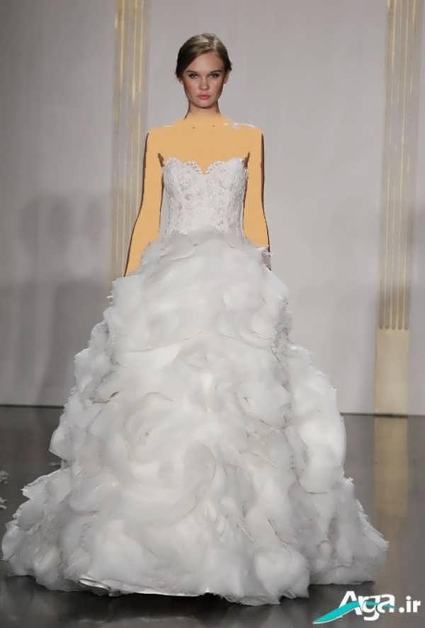 لباس عروس ساده دکلته