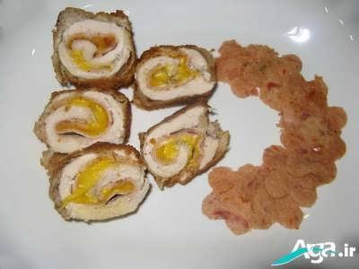 روش پخت رولت مرغ