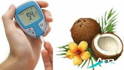 درمان دیابت با نارگیل